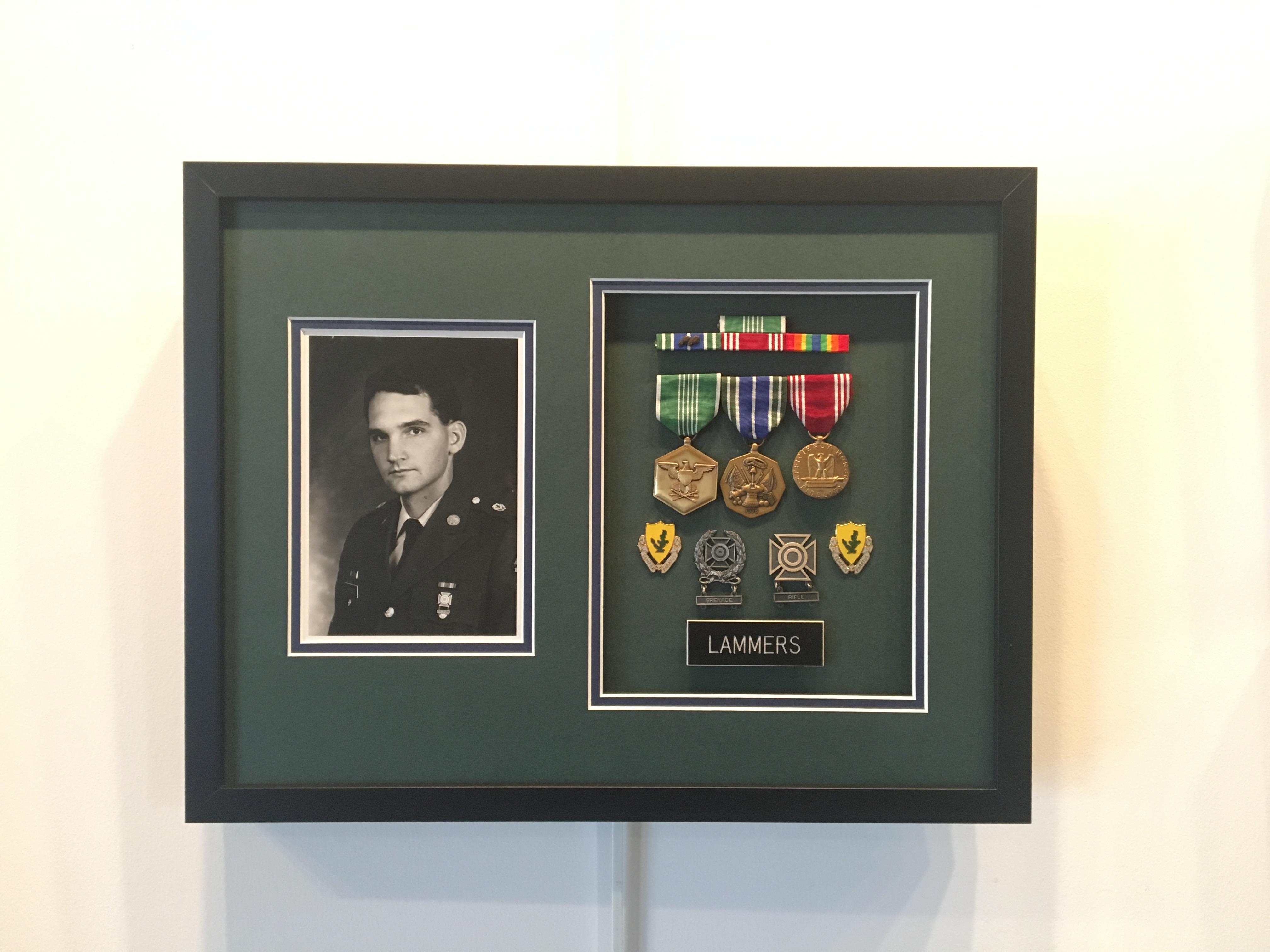 Military Badge Custom Framing