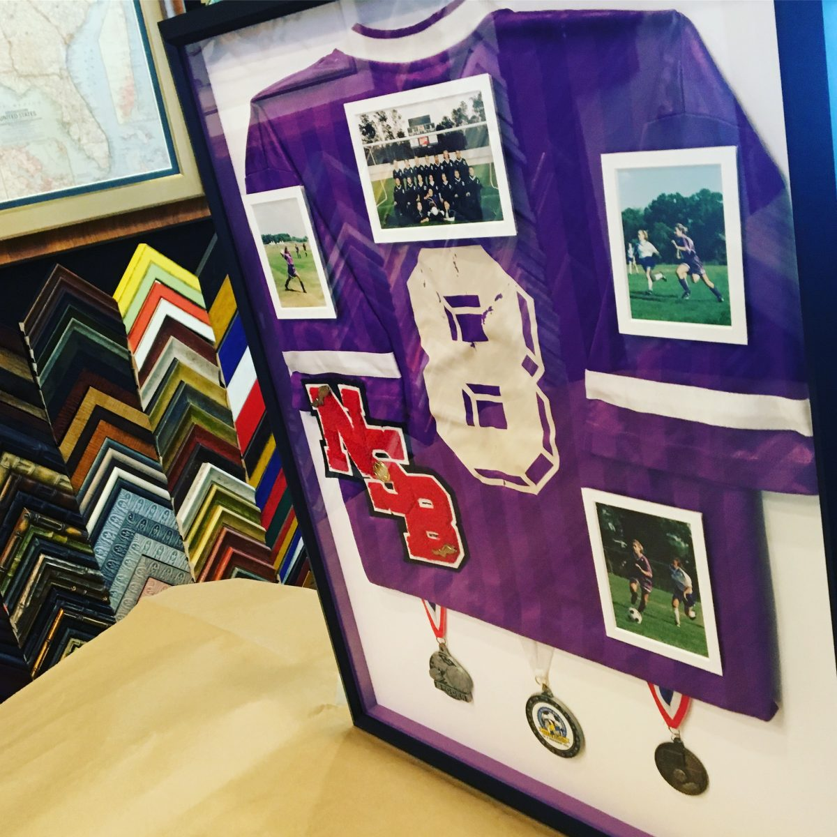 Jersey and Uniform Framing photo